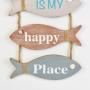 Placa Peixes Happy Place YP-39