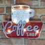 Placa Xícara Coffee com luzes de LED MT-08