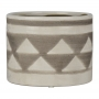 Vaso Branco com Triângulos em Cerâmica YH-97 B