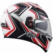 Capacete Agv K3 Sv Racer White/carbon/red