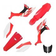 Kit Plastico Crf 250f Biker Evo Vermelho Com Branco