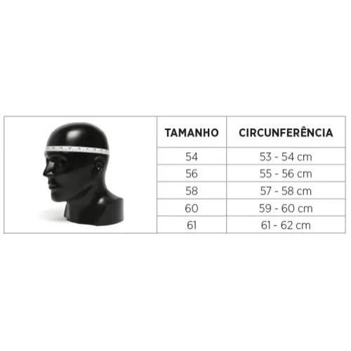 CAPACETE 50.5 SOUL PRETO/AMARELO/CINZA