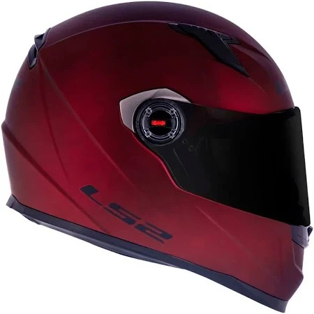 LS2 CAP FF358 MONOCOLOR MATTE VERMELHO