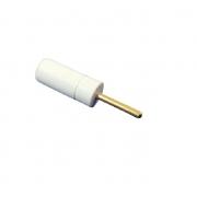 Adaptador de Eletrodo, 1.5mm Jack (Eletr.) para 2mm plugue (Equip.) - Branco - Cód: BIO.301205
