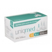 Agulha para Caneta de Insulina 4mm (32G) - UNIQMED - Cód: UM-FPN008