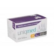 Agulha para Caneta de Insulina 5mm (31G) - UNIQMED- Cód: UM-FPN006