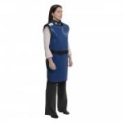 Avental Radiológico Proteção Frontal - 100cm x 60cm (0,35 mmPb) - Tam Médio Curto - Azul - PLANIDÉIA - Cód: PRS-002MC