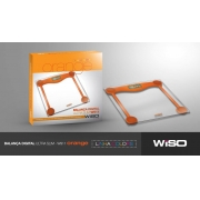 Balança Digital Ultra Slim de vidro Colors Line 180 Kg mod. W 911 LARANJA - WISO - Cód: 96393
