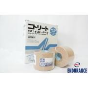 Bandagem Adesiva KinesioLogy Tape 3,75 cm X 5m BEGE - Cx. c/8 und. - Cód: NKH-37