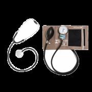 Cj Adulto Aparelho de Pressão Cinza em Brim e Fecho de Contato + Estetoscópio Unisson (Preto) - P.A.MED - Cód: CJPA104