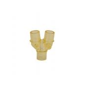 Conector Y 22mm para Circuito Paciente para Proximal e Termômetro  (Peça) - GLOBAL TEC - Cód: CR04