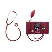 Conjunto Esfigmomanômetro Metal e Estetoscópio Duplo Innova  (Várias Cores) - BIC - Cód: CJ06