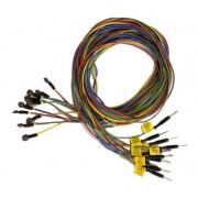 Eletrodo Disco EP/EEG 6mm (Cloreto de Prata, 10pcs, Pediátrico), 1.5m, Conector Macho 2mm - Cód: 101015