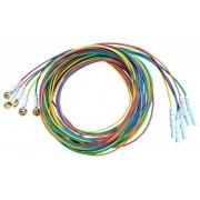 Eletrodo p/ Eletroencefalografia- 1,52m- Plugue Fêmea 1,5mm TP(Touch Proof)- (Pct 5 unid)- MAXXIGOLD - Cód: PV 1010-13CI