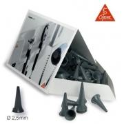 Espéculos Descartáveis UniSpec P/ Ouvido 4mm - Cinza - Adulto - HEINE - Cód: B-000.11.241