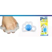 Fisiohand Siligel para Fisioterapia Com Ogiva Azul (Esquerdo) - Ortho Pauher - Cód: OP 4021-E