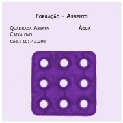 Forrações de Assento - Caixa de Ovo Quadrada Aberta (Água) - Bioflorence - Cód: 102.0290