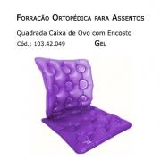 Forrações de Assento - Caixa de Ovo Quadrada com Encosto (Gel - Encosto Inflável) - Bioflorence - Cód: 103.0049