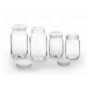 Frasco de Vidro com Tampa de Plástico de Rosca (05 Frascos) - EME Equipment - Cód: FV