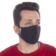 Kit com 100 Máscaras de Proteção Ninja em Algodão Reutilizável - Preta - Cod: SPM-V14-15043PR