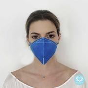 Máscara Descartável N95 - PFF2 - Azul (50 Unidades)  - Cód: MK-3002-4P