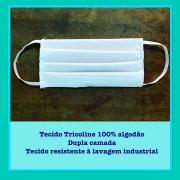 Máscara Lavável Tricoline 100% Algodão Dupla Camada (10pcs) - Cód: SPA-V11-10100AG