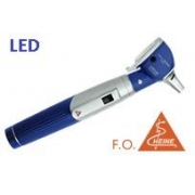 Otoscópio F.O. LED Mini3000 C/ Cabo Mini + Espéculos (Azul)  - HEINE - Cód: D-008.70.120A