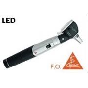 Otoscópio F.O. LED Mini3000 C/ Cabo Mini + Espéculos (Preto) - HEINE - Cód: D-008.70.120P