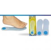 Palmilha Siligel Inteira com Ponto Azul (Vários Tamanhos) - Ortho Pauher - Cód: OP 6002