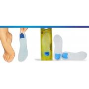 Palmilha Sob Gel com Ponto Azul (Vários Tamanhos) - Ortho Pauher - Cód: OP 13001