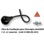 Pêra de Insuflação para Otoscópio Mini3000 F.O. C/ Conector - HEINE - Cód: D-000.80.102
