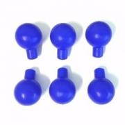 Pera de Silicone para Eletrodo Pré-Cordial (Azul) - Pacote com 6 unidades - GLOBAL TEC - Cód: EP40