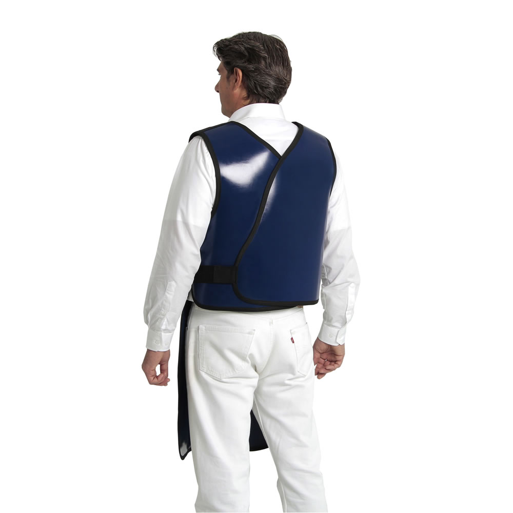 Avental de Proteção 100x60 (0,35mmPb) - Médio Curto - Azul - PLANIDÉIA - Cód: PRS-001MC
