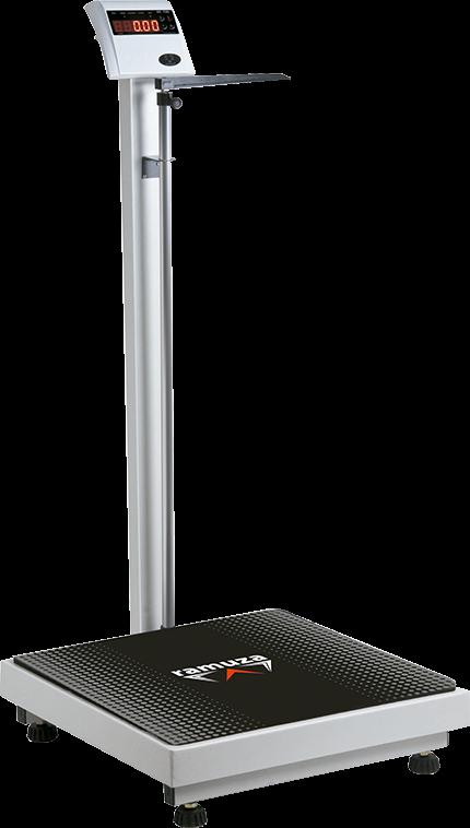 Balança Antropométrica - Modelo DP - LED Vermelho - (Capacidade 300kg/100g) - RAMUZA - Cód: DP 300kg/100g