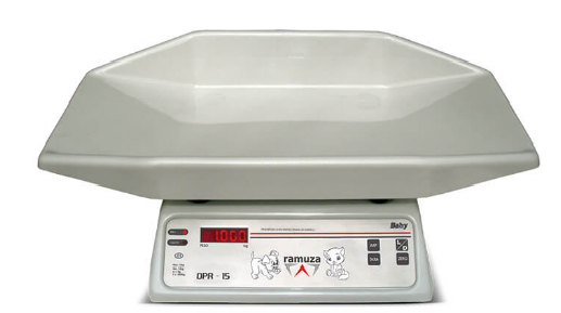 Balança Baby Pet Pesadora - Modelo DPR - LED Vermelho - (Capacidade 15kg/5g) - RAMUZA - Cód: DPR 15A