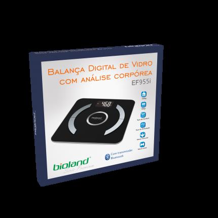 Balança digital c/ Bioimpedância e Bluetooth - BIOLAND - Modelo EF955I