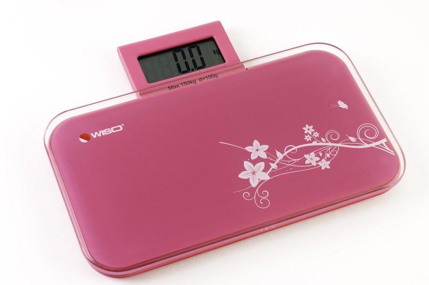 Balança Digital Ultra Portátil Vidro Rosa 150kg - W600 - WISO - Cód: 95943