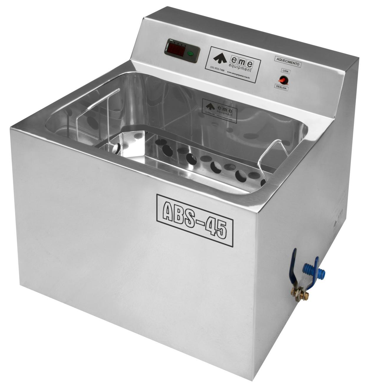 Banho Maria para Soro Sangue e Plasma - Modelo ABS-45 - EME EQUIPMENT- Cód: EME - 204