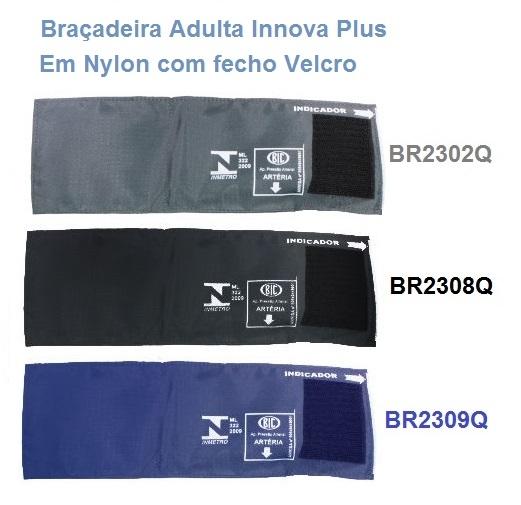 Braçadeira Adulto Nylon Fecho de Contato Innova Plus - BIC - Cód: BR23