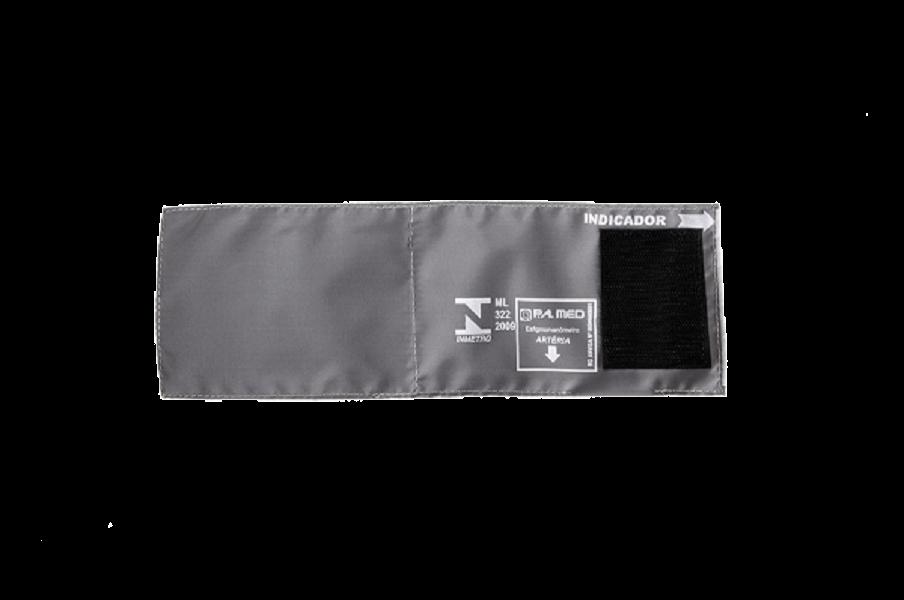 Braçadeira Infantil Nylon Cinza Fecho de Contato - P.A.MED - Cód: BRPA1702Q