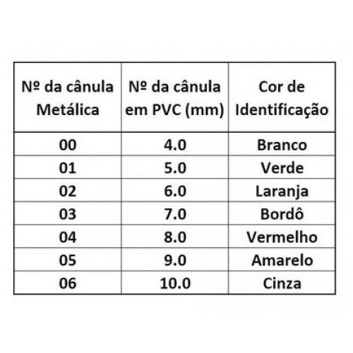 Cânula para Traqueostomia com Balão, tipo Biesalski, C.C. (cânula interna), de PVC - BCI Medical - Cód: 9755