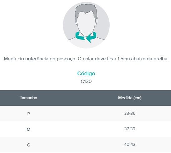 Colar Cervical com Apoio Mentoniano - Bege - CHANTAL - Cód: C130