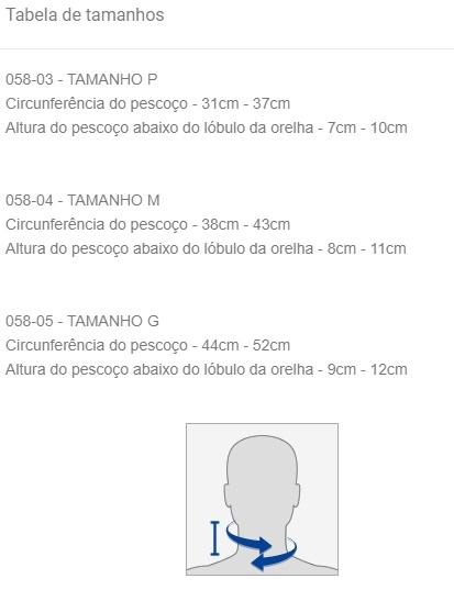 Colar Cervical com Apoio Mentoniano - SALVAPÉ - Cód: 058