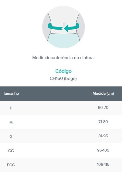 Colete Lombar - Bege  - CHANTAL - Cód: CH160