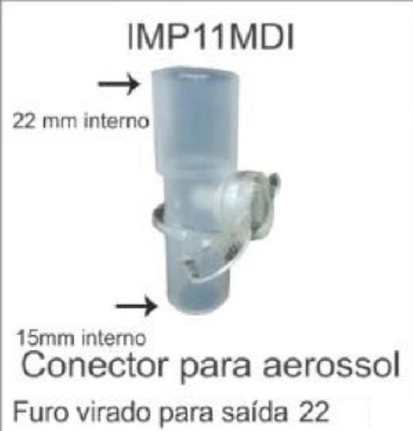 Conector para Aerossol MDI (IMP11MDI 22) - Impacto Medical - Cód: IMP03199