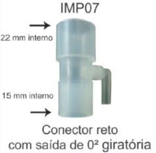 Conector Reto 15 a 22mm (IMP07) - Impacto Medical - Cód: IMP74190