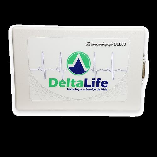 Eletrocardiógrafo ECG USB DL660 Vet com 12 derivações - DELTA LIFE - Cód: DL660