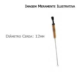 Escova Para Lavar Vidraria, Diâmetro 12mm, Comp. Total 195mm (02 Unidades) - Nacionais - Cód: E-2205