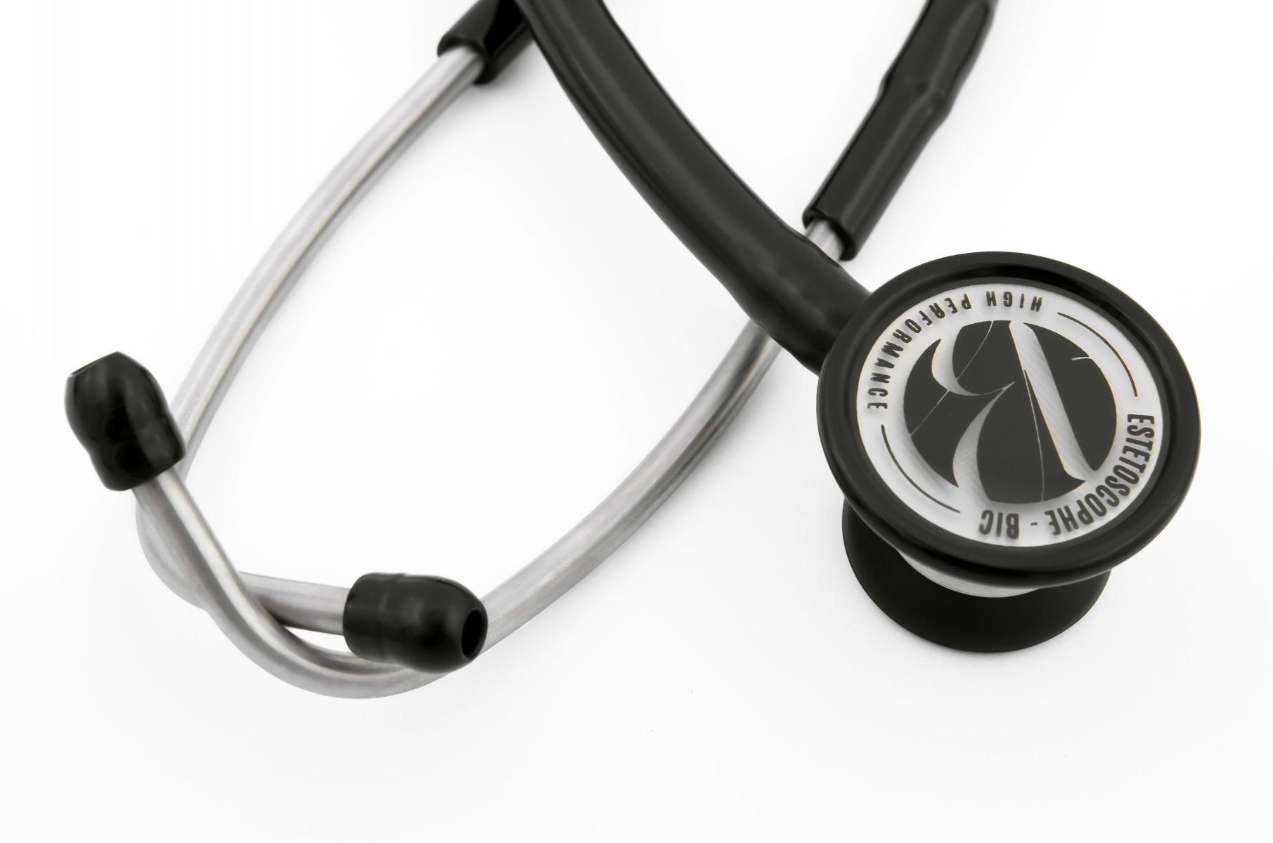 Estetoscópio Cardiológico Adulto Preto Linha Eternity - BIC - Cód: ES1301