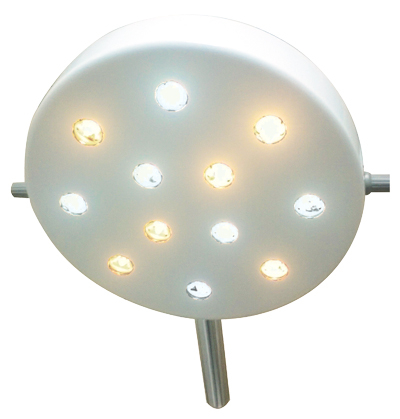 Foco Cirúrgico Bicolor 12 LEDs - Pedestal  Vet - DELTA LIFE - Cód: DL5002